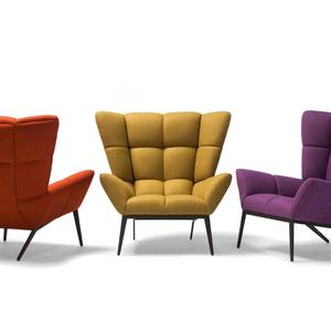 Tuulla Chair in red, yellow, and purple