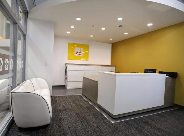CP Group showroom reception desk