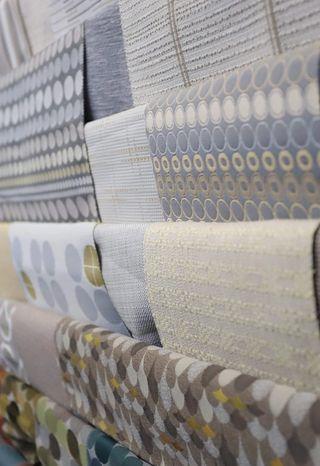 Wall full of various fabrics