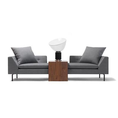 Fratelli sofa in gray with wooden table in middle