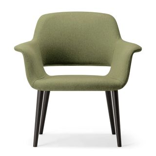Piper mid back chair in green