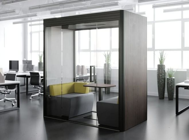 Berco Designs privacy booth in office