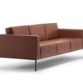 Brown Ali sofa from front