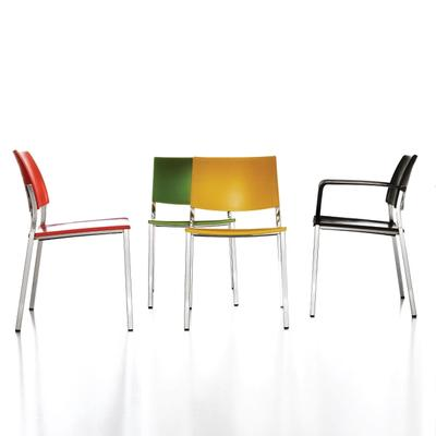 Modern chairs in various colors