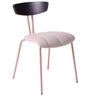 Chair with pink seat and copper legs