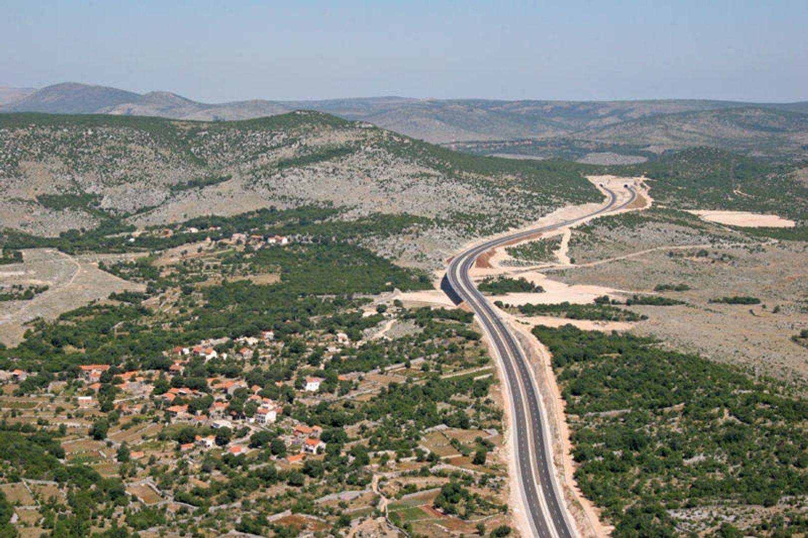 De A1 snelweg Zagreb-Split-Dubrovnik