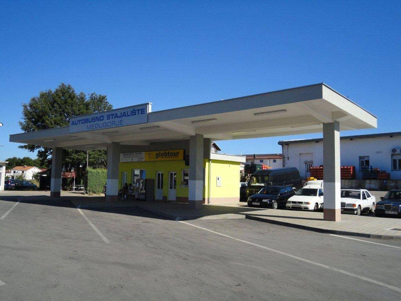 Het busstation in Medjugorje
