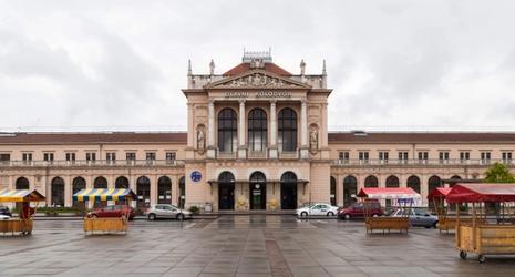 Het treinstation in Zagreb