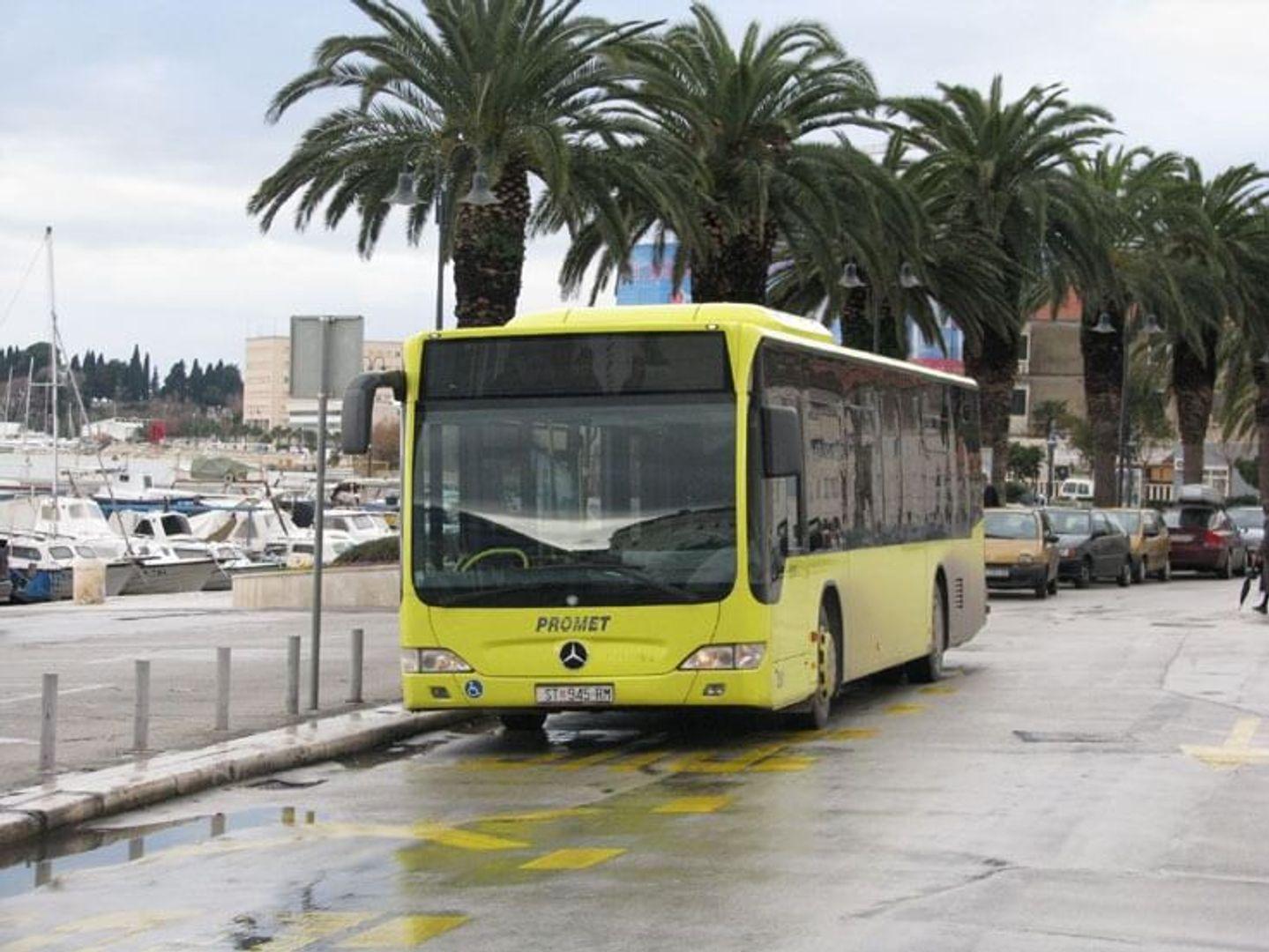 Kroatische bus in Split