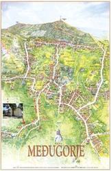 Het heerlijke pension van Ana en Mladen aangeduid op de kaart