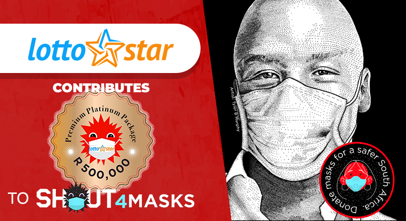 LottoStar collaborates with Shout4Masks to sponsor 50,000 masks for healthcare workers