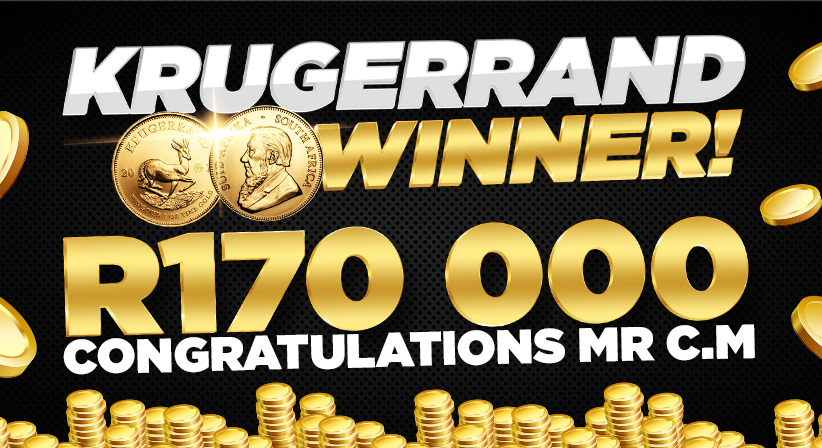'I'm going to pay off some debts', exclaims Krugerrand winner