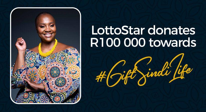 LottoStar gifts Dr. Sindi a R100,000 donation towards her medical bill!