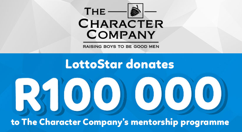 LottoStar contributes R100 000 to The Character Company's mentorship programme