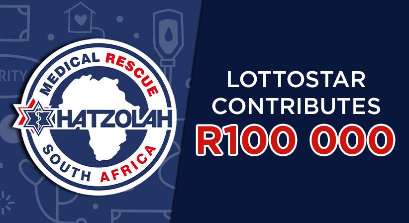 LottoStar contributes R100 000 to Hatzolah Medical Rescue