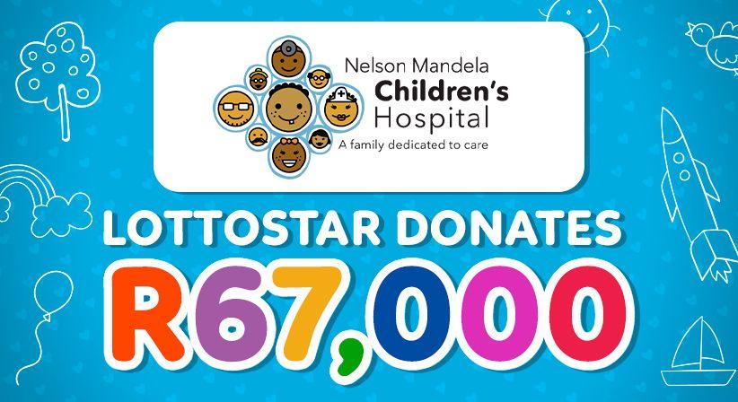 LottoStar donates R67,000 towards two surgeries at Nelson Mandela Children's Hospital!