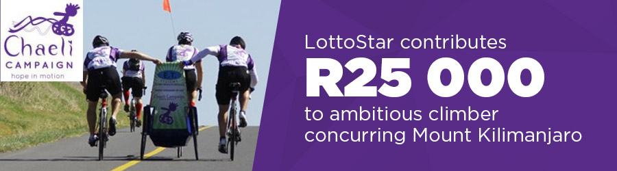 LottoStar contributes R25 000 to ambitious climber conquering Mount Kilimanjaro