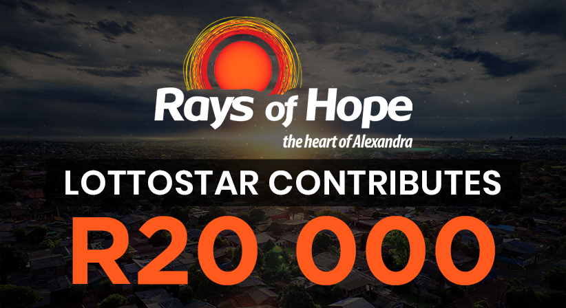 LottoStar contributes R20 000 to Rays of Hope