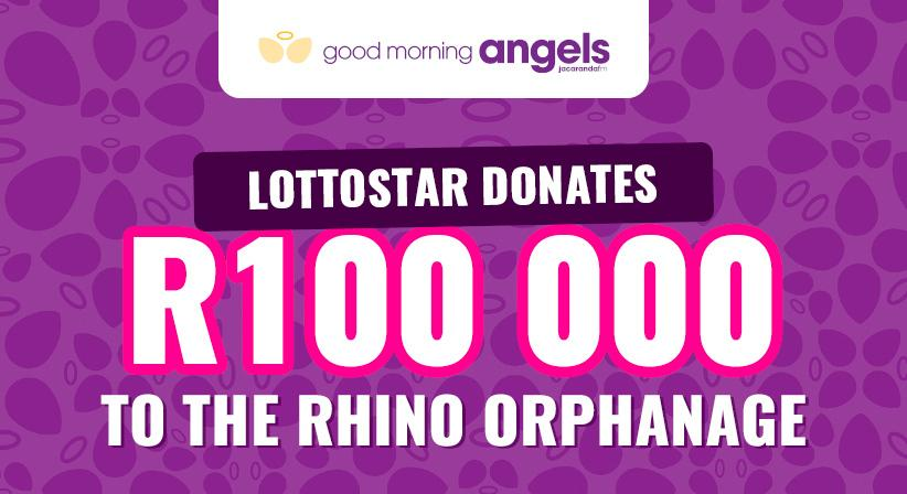 LottoStar donates R100,000 to The Rhino Orphanage.