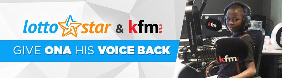 LottoStar & Kfm give Ona his voice back