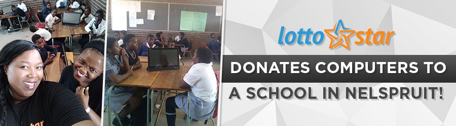 LottoStar donates computers to a school in Nelspruit!