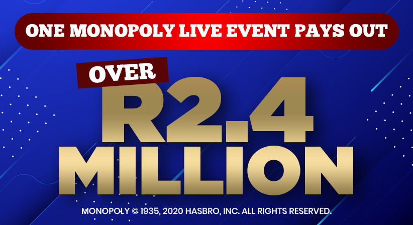 A Winning Spree of over R2.4 Million in one MONOPOLY Live event