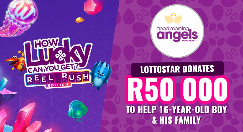 LottoStar donates R50,000 to help 16-year-old boy and his family.