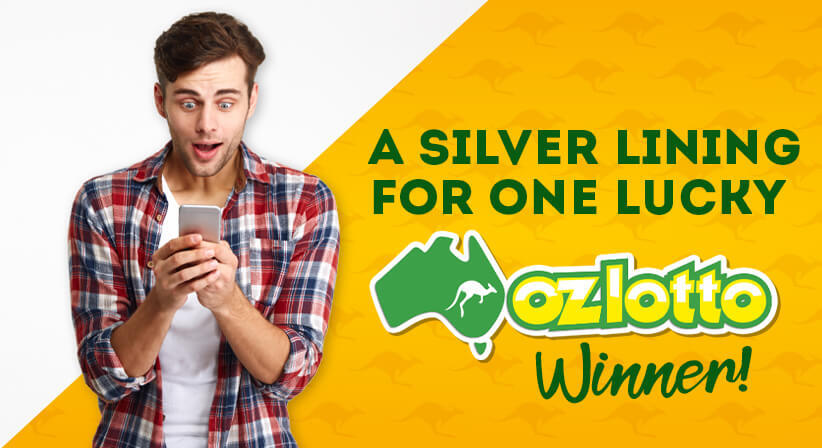 A SILVER LINING FOR ONE LUCKY OZ LOTTO WINNER