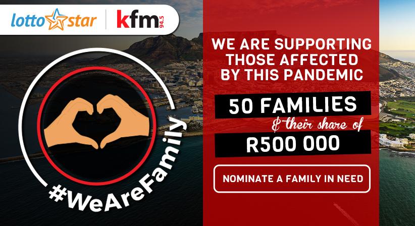 LottoStar & Kfm launch #WeAreFamily to support 50 families