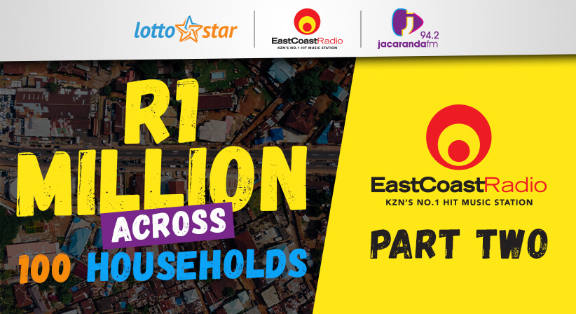 Part 2 | LottoStar & East Coast Radio contributes a share of R1 million to households in need