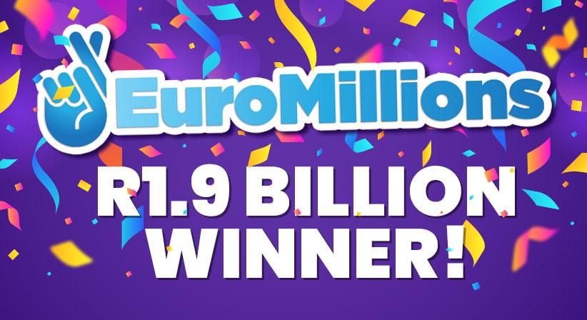 EuroMillions R1,9 Billion winning couple