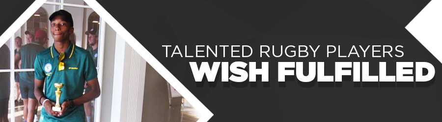 Talented rugby players wish fulfilled