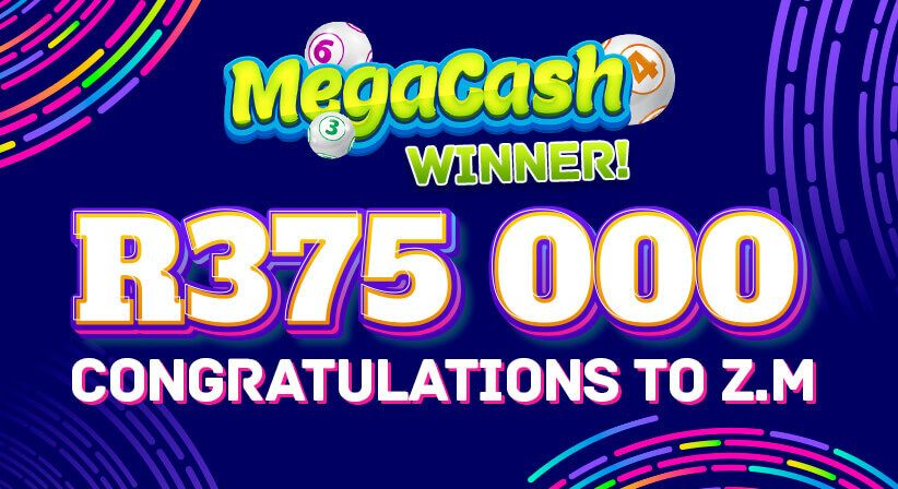A R5 BET WINS R375,000 FOR OUR MEGACASH WINNER!