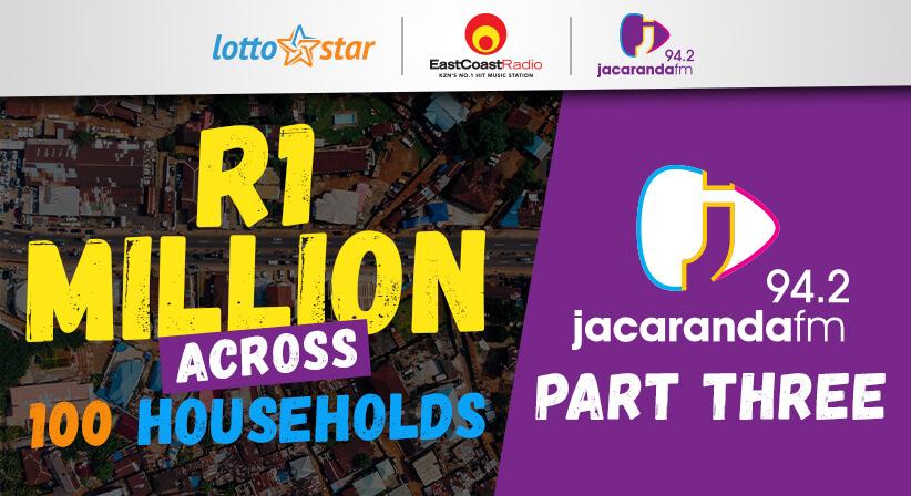 Part 3 | LottoStar & Jacaranda FM contribute R1 Million to families in need