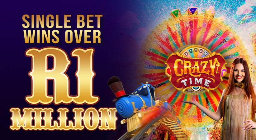 Crazy Time player wins over R1 Million