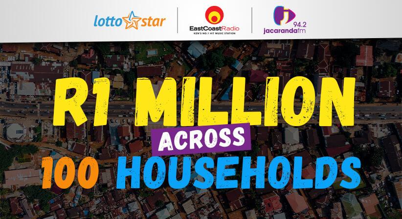 LottoStar, Jacaranda FM and East Coast Radio provide a R1 Million helping hand