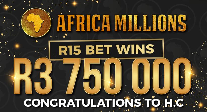 R3,7 MILLION AFRICA MILLIONS LOTTERY WINNER