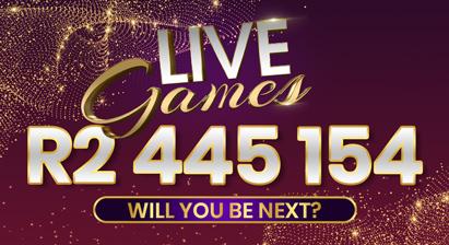 Meet our Live Games' R2,4 Million winner