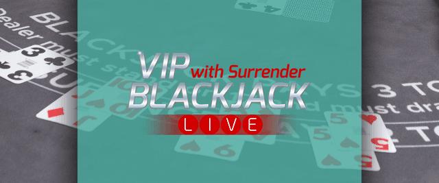 VIP Blackjack with Surrender