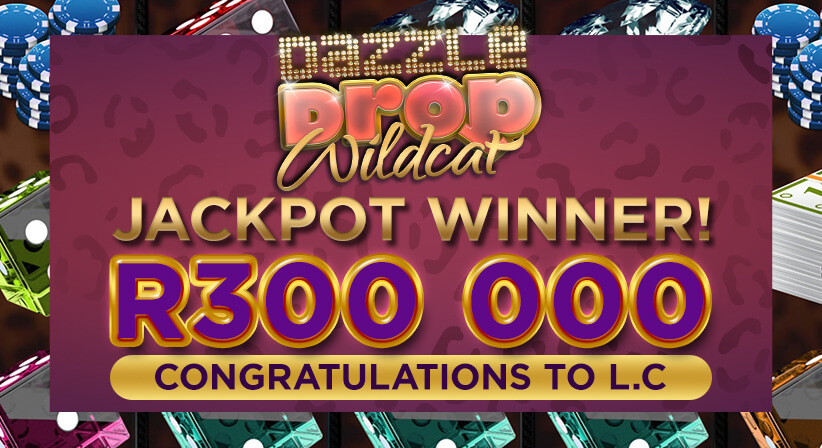 DAZZLE DROP WILDCAT JACKPOT WINNER
