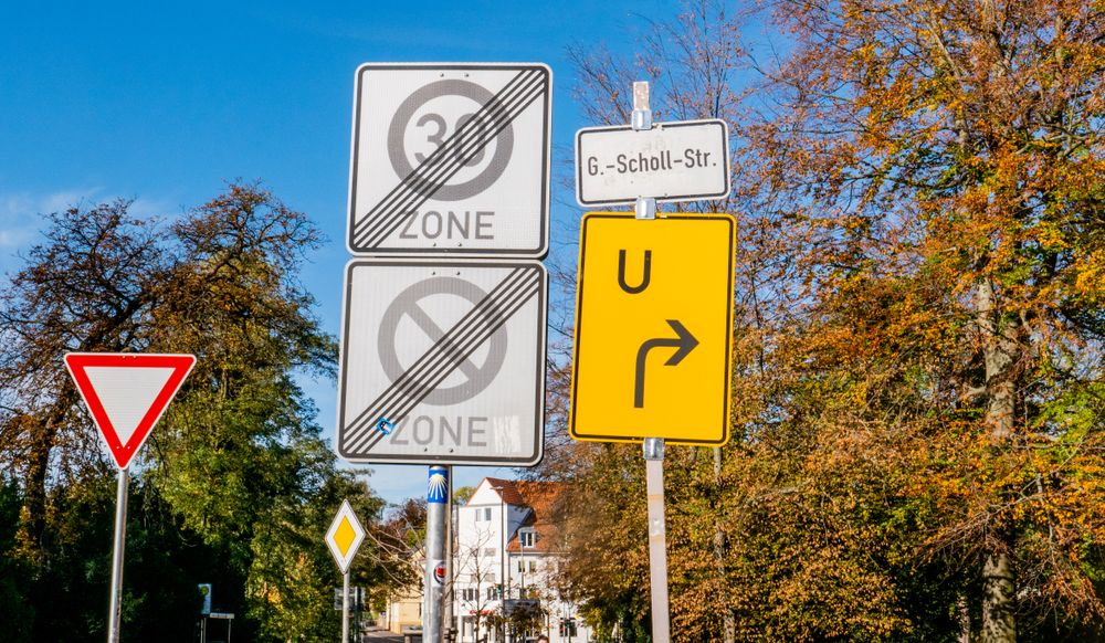 Confusing German Street Signs in a row