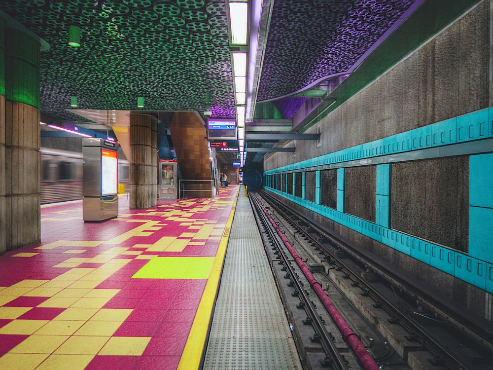 Train Station with multiple colors