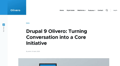 "Drupal theme ""Olivero"""