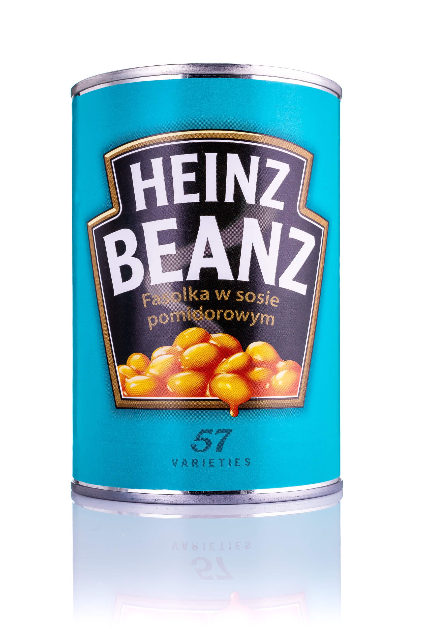 Zdjęcie packshotowe fasolki w puszce marki Heinz
