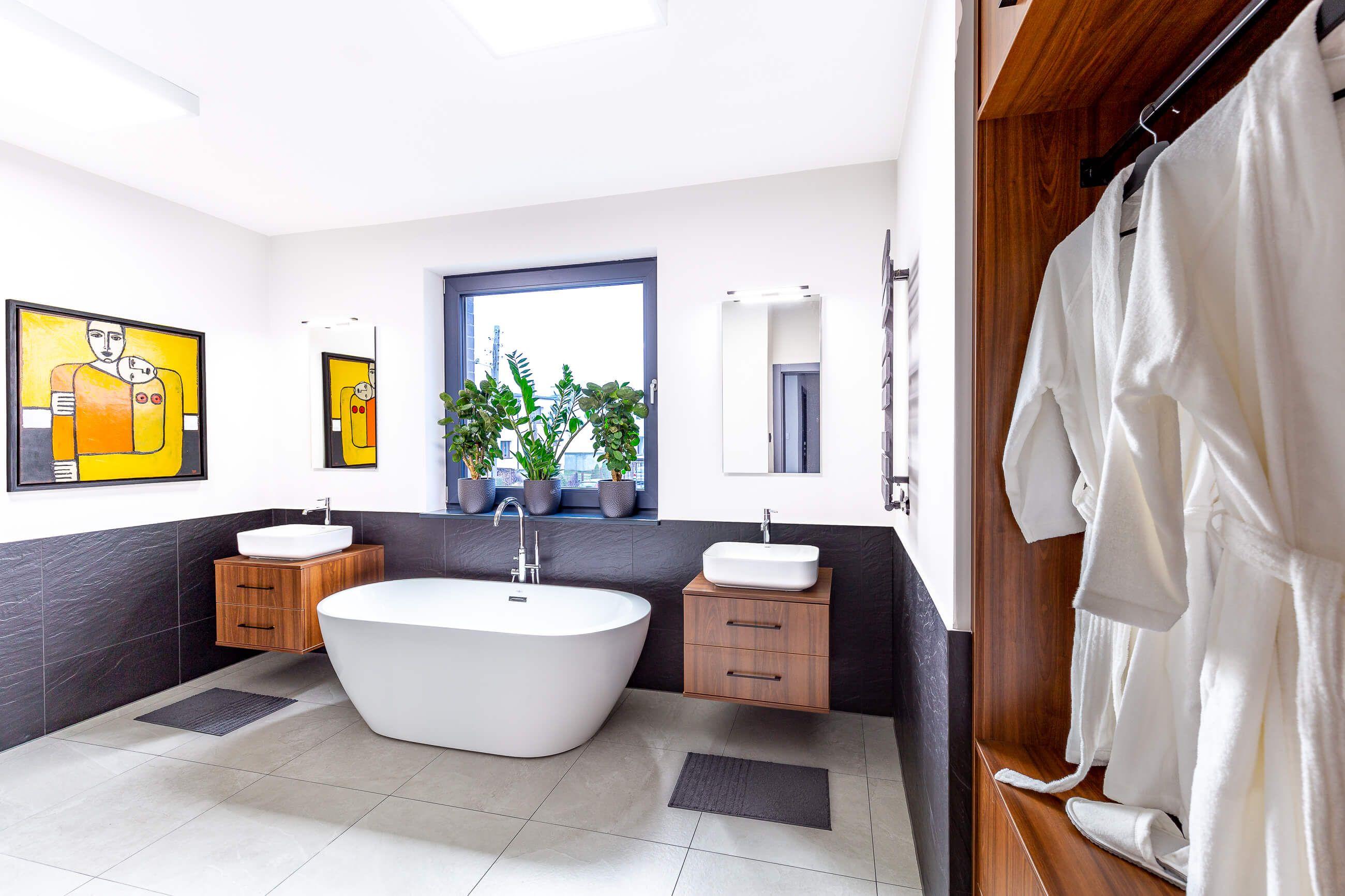 Zdjęcie wnętrza łazienki - sesja w Poznaniu