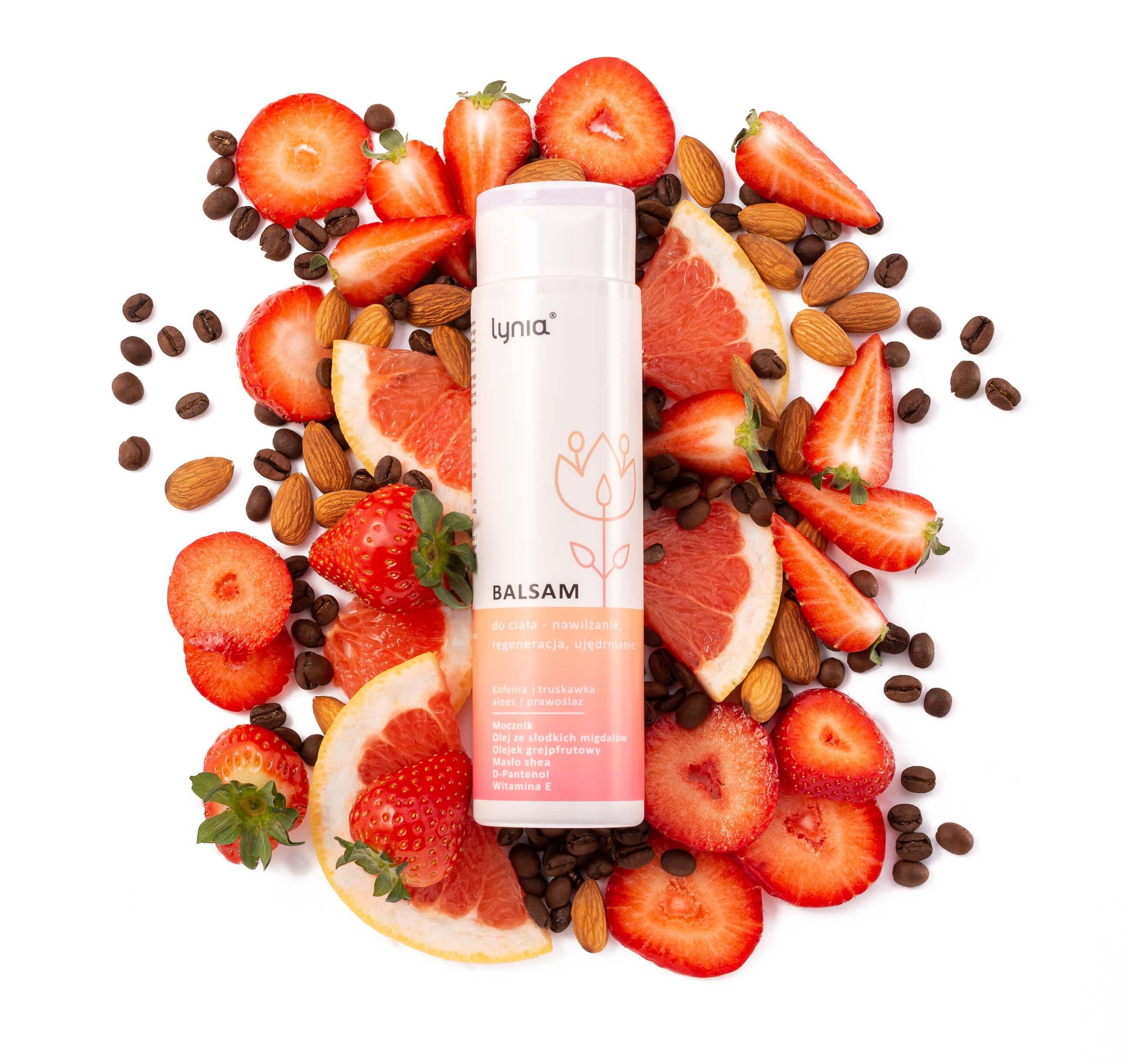 Aranżowane zdjęcie reklamowe kosmetyków - flat lay