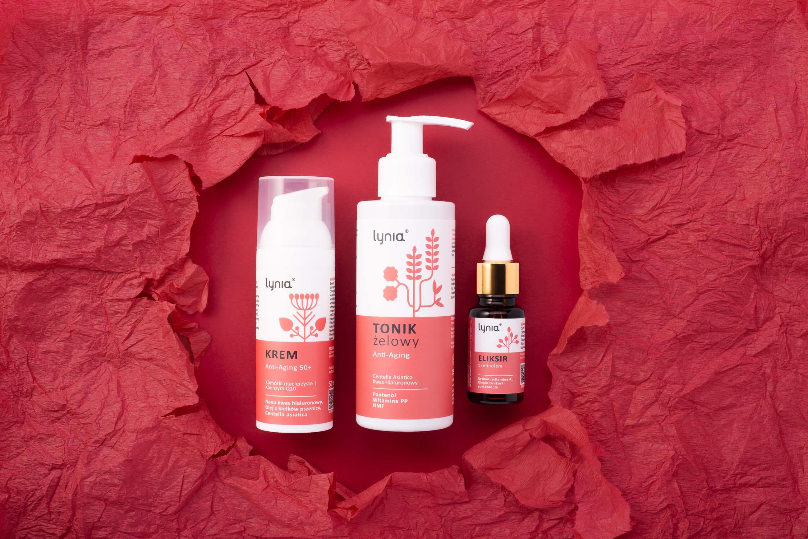 Zdjęcie kosmetyków w aranżacji