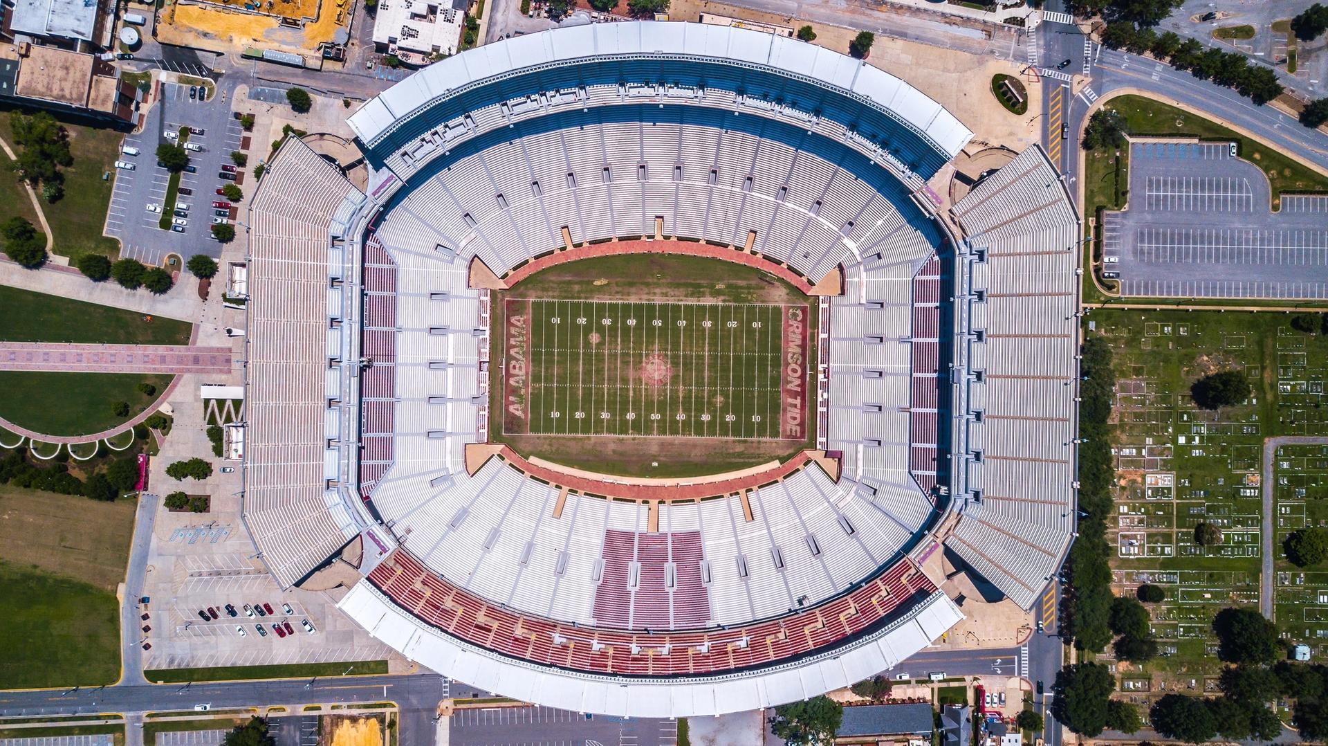 #1 ranked University of Alabama, Bryant-Denny Stadium, Tuscaloosa, AL.