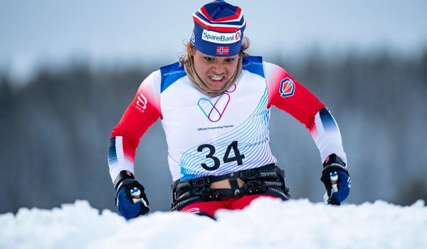 Indira Milena Hopsdahl Liseth under verdenscup arrangementet i Paraidrett på Birkebeineren skistadion på Lillehammer.