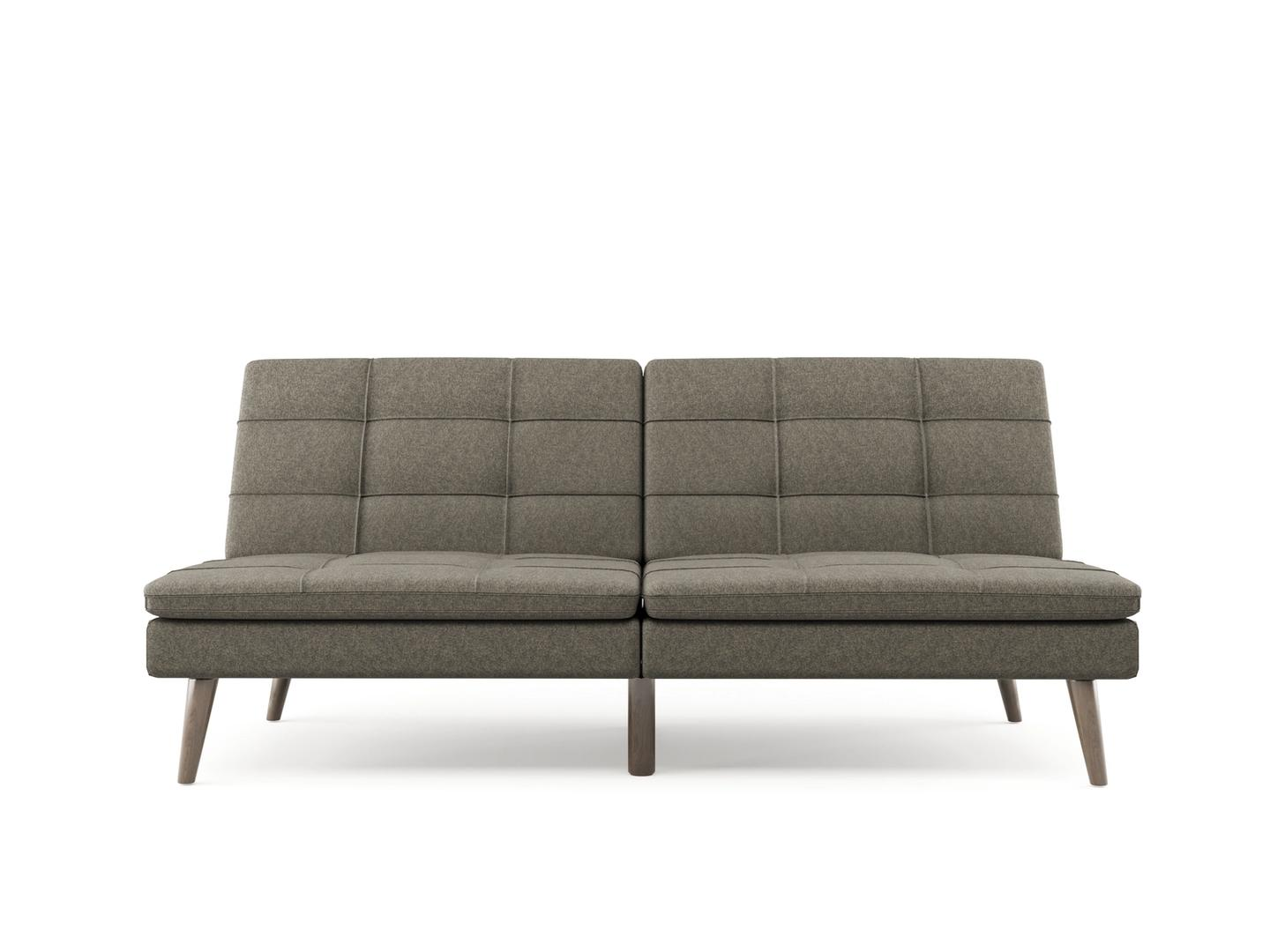 3D Modeling of a grey sofa on white background